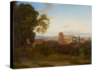 The Colosseum in Rome, 1828-Carl Rottmann-Stretched Canvas Print