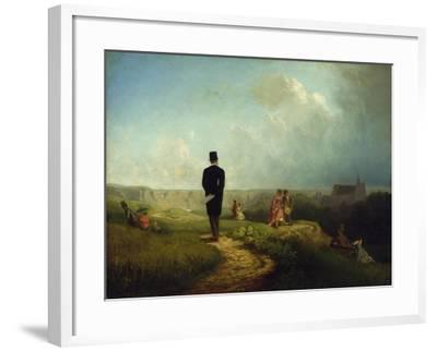 The Bachelor-Carl Spitzweg-Framed Giclee Print