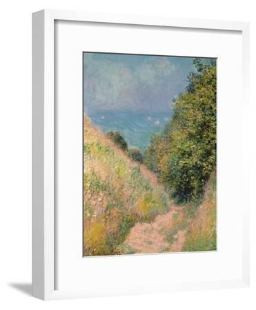 The Path of La Cavée at Pourville, 1882-Claude Monet-Framed Premium Giclee Print