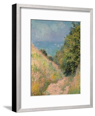 The Path of La Cavée at Pourville, 1882-Claude Monet-Framed Giclee Print