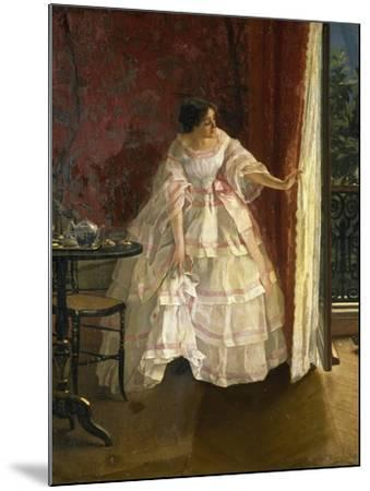 Lady at the Window, Feeding Birds, 1850-Alfred Stevens-Mounted Giclee Print