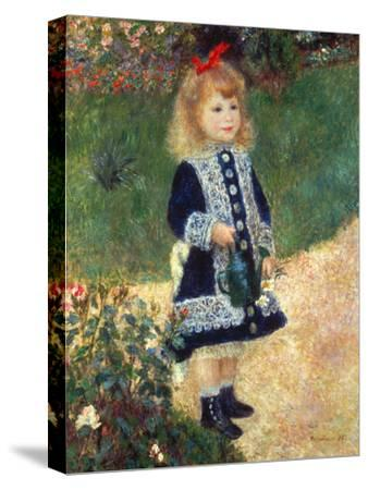 Girl with Watering Can, 1876-Pierre-Auguste Renoir-Stretched Canvas Print