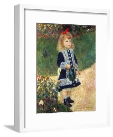 Girl with Watering Can, 1876-Pierre-Auguste Renoir-Framed Premium Giclee Print