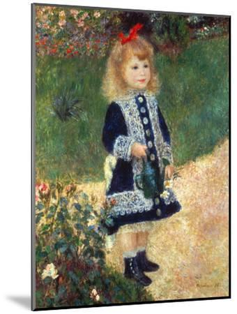 Girl with Watering Can, 1876-Pierre-Auguste Renoir-Mounted Premium Giclee Print