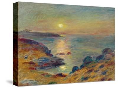Sunset at Douarnenez, Ca, 1883-Pierre-Auguste Renoir-Stretched Canvas Print