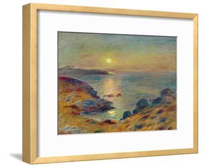 Sunset at Douarnenez, Ca, 1883-Pierre-Auguste Renoir-Framed Premium Giclee Print