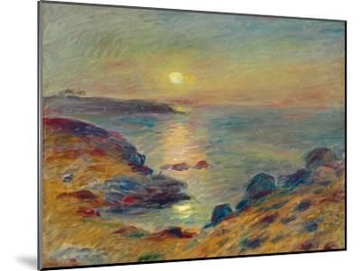 Sunset at Douarnenez, Ca, 1883-Pierre-Auguste Renoir-Mounted Premium Giclee Print