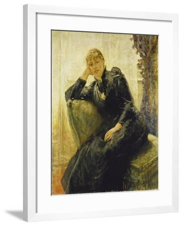 Portrait of a Young Woman-Fritz von Uhde-Framed Giclee Print