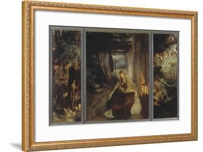 Holy Night (Triptych), 1888-89-Fritz von Uhde-Framed Giclee Print