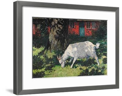 Goat in the Garden, C. 1903-5-Hans Am Ende-Framed Giclee Print