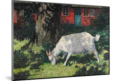 Goat in the Garden, C. 1903-5-Hans Am Ende-Mounted Giclee Print