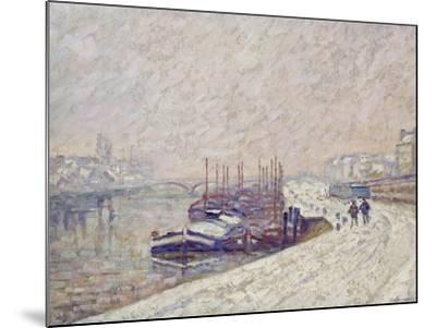 Barges in the Snow-Jean-Baptiste Armand Guillaumin-Mounted Giclee Print