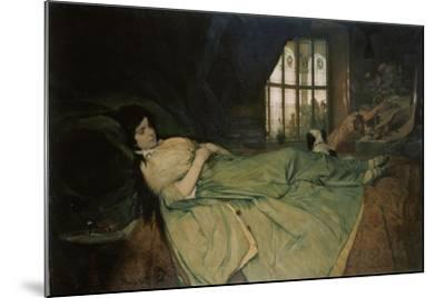 Julia Capulet, the Wedding Day Morning, 1874-Gabriel Von Max-Mounted Giclee Print