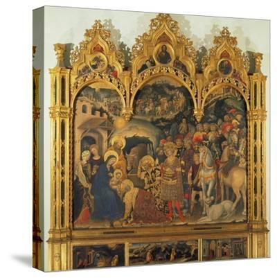 Adoration of the Magi, 1423-Gentile da Fabriano-Stretched Canvas Print