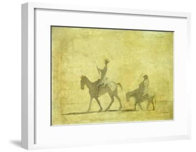 Don Quixote and Sancho Pansa-Honor? Daumier-Framed Giclee Print