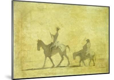 Don Quixote and Sancho Pansa-Honor? Daumier-Mounted Giclee Print
