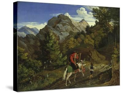 Home-Coming Harpist, 1825-Ludwig Richter-Stretched Canvas Print