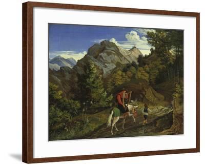 Home-Coming Harpist, 1825-Ludwig Richter-Framed Giclee Print