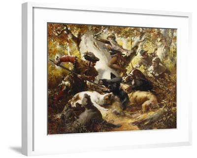 The Wild Boar Hunt-Ferdinand Wagner-Framed Giclee Print