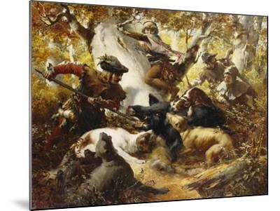 The Wild Boar Hunt-Ferdinand Wagner-Mounted Giclee Print