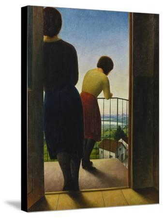 On the Balcony, 1927-Georg Schrimpf-Stretched Canvas Print