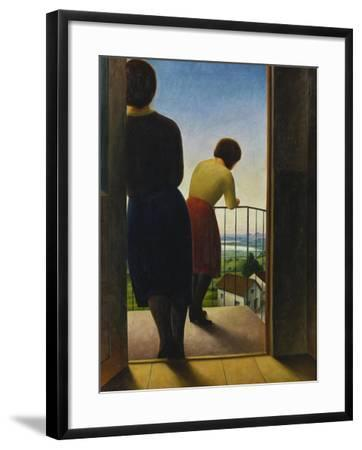 On the Balcony, 1927-Georg Schrimpf-Framed Giclee Print
