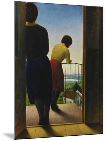 On the Balcony, 1927-Georg Schrimpf-Mounted Giclee Print