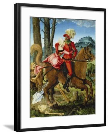 The Knight, the Young Girl and Death-Hans Baldung-Framed Giclee Print