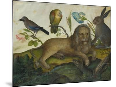 Animal Painting (Lion)-Hans Hoffmann-Mounted Giclee Print