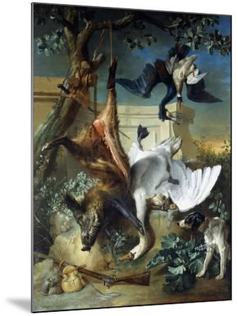 La Retour De Chasse: a Hunting Dog Guarding Dead Game-Jean-Baptiste Oudry-Mounted Giclee Print