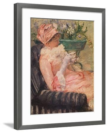 The Cup of Tea, Ca, 1880-81-Mary Cassatt-Framed Giclee Print