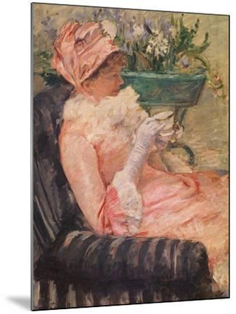 The Cup of Tea, Ca, 1880-81-Mary Cassatt-Mounted Giclee Print
