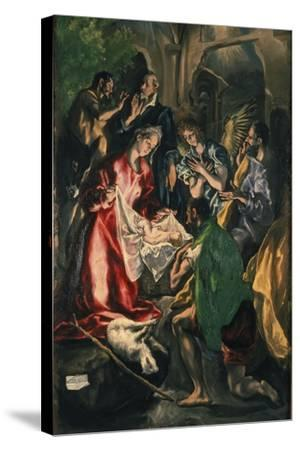 Adoration of the Shepherds, C. 1590-El Greco-Stretched Canvas Print