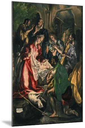 Adoration of the Shepherds, C. 1590-El Greco-Mounted Giclee Print