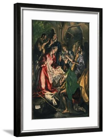 Adoration of the Shepherds, C. 1590-El Greco-Framed Giclee Print