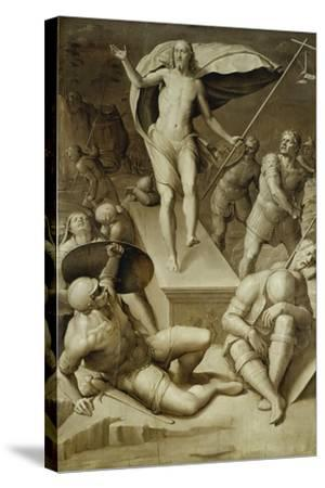 Resurrection of Christ- Florentinische Schule-Stretched Canvas Print