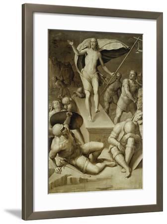 Resurrection of Christ- Florentinische Schule-Framed Giclee Print