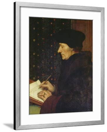Erasmus of Rotterdam, 1523-Hans Holbein the Younger-Framed Giclee Print