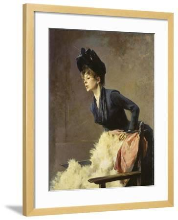 Portrait of a Young Lady, 1889-Hugo von Habermann-Framed Giclee Print