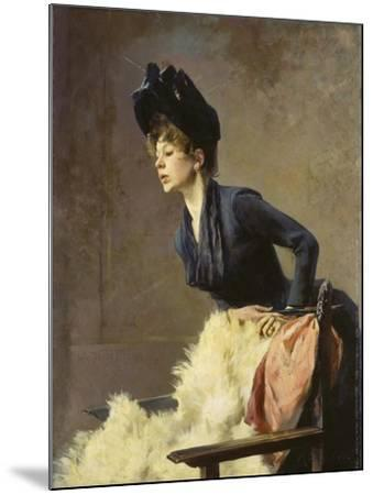 Portrait of a Young Lady, 1889-Hugo von Habermann-Mounted Giclee Print