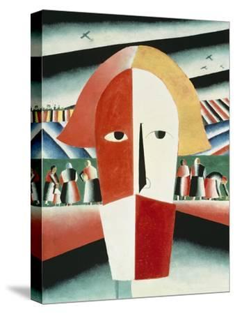 The Head of a Peasant, 1928-30-Kasimir Malevich-Stretched Canvas Print