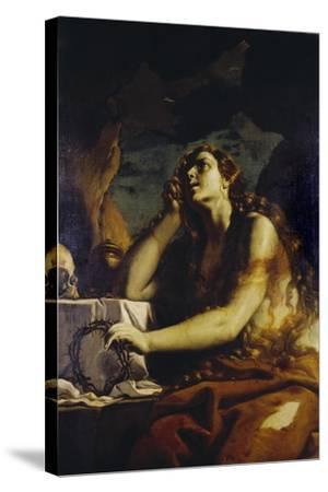 The Penitent Magdalene in the Grotto-Mattia Preti-Stretched Canvas Print