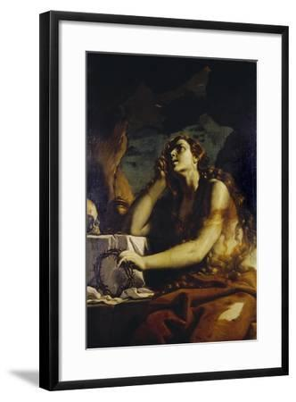 The Penitent Magdalene in the Grotto-Mattia Preti-Framed Giclee Print