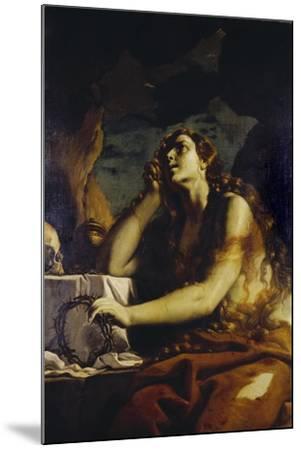 The Penitent Magdalene in the Grotto-Mattia Preti-Mounted Giclee Print