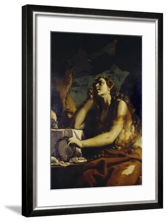 The Penitent Magdalene in the Grotto-Mattia Preti-Framed Giclee Print