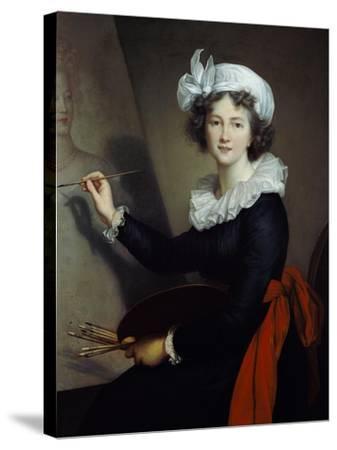 Selbstbildnis Beim Malen-Elisabeth-Louise Vigée-Lebrun-Stretched Canvas Print
