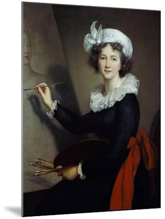 Selbstbildnis Beim Malen-Elisabeth-Louise Vigée-Lebrun-Mounted Giclee Print