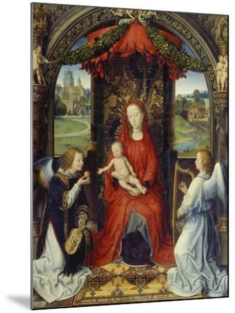 Virgin and Child with Two Angels-Hans Memling-Mounted Giclee Print