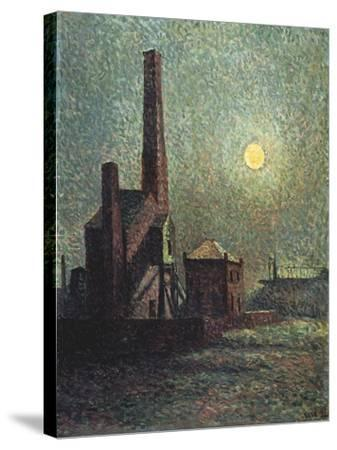 Factory by Moonlight-Maximilien Luce-Stretched Canvas Print