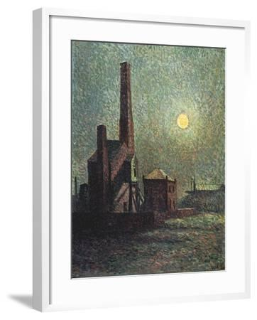 Factory by Moonlight-Maximilien Luce-Framed Giclee Print